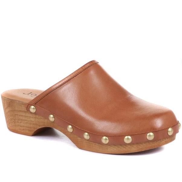 Tan Leather Clogs Jones the Bootmaker