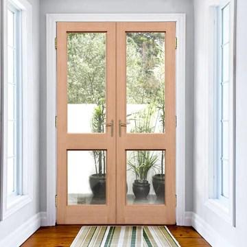 exterior hemlock 2xgg door pair fit your own glass