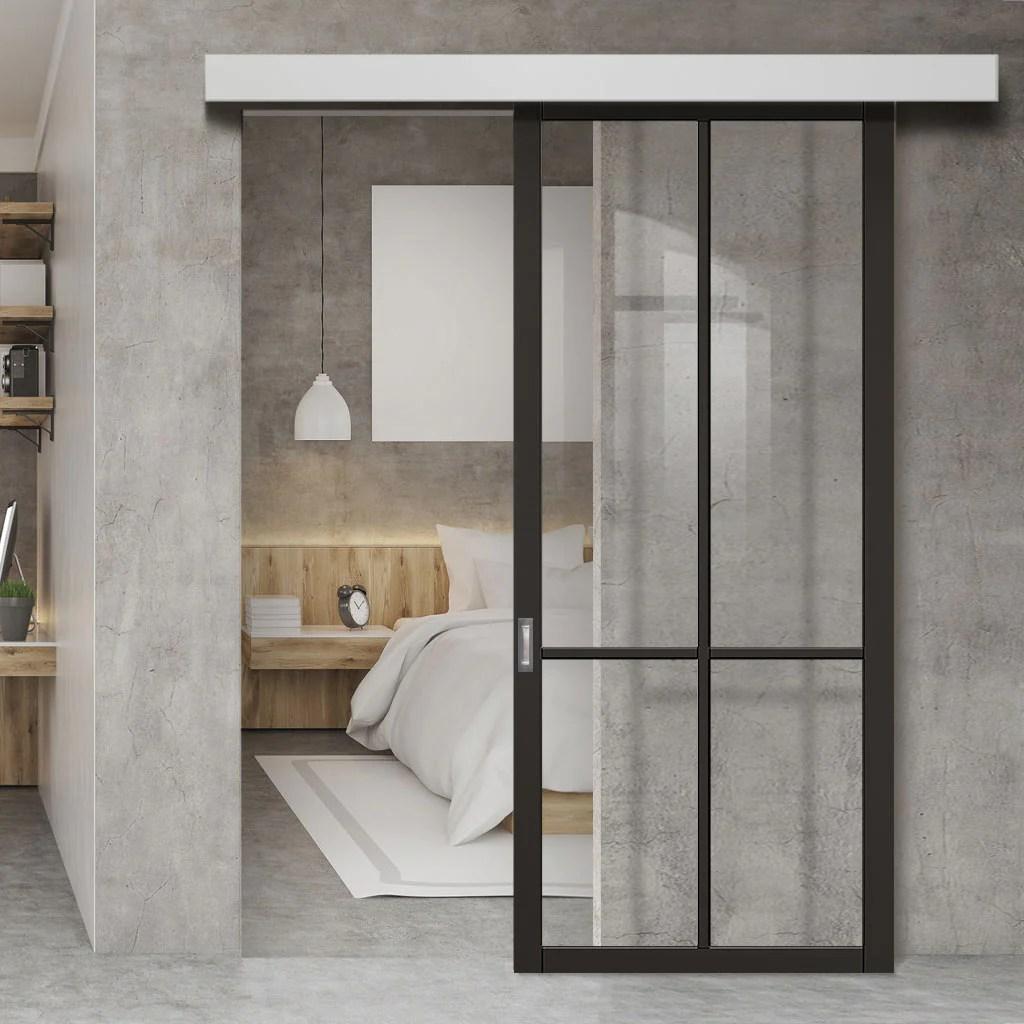 single sliding door wall track liberty 4 pane door clear glass