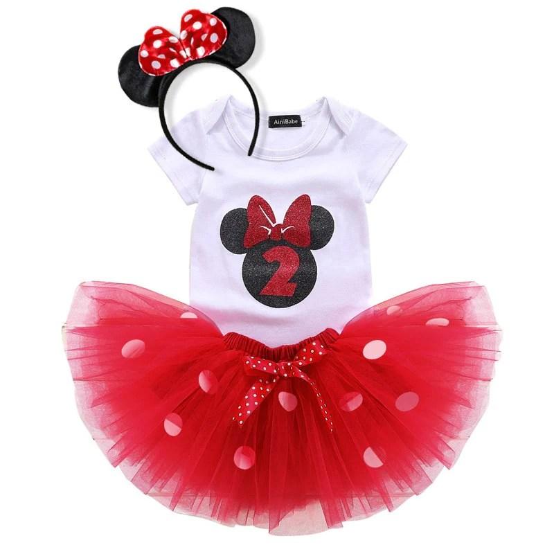 Minnie Mouse 2nd Birthday Tutu Set Paisley S Palace