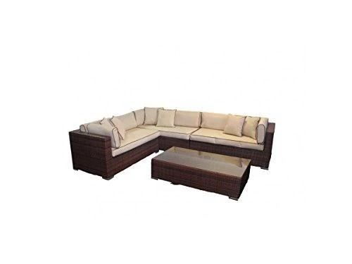 Rattan Modular Day Bed Righthand Corner Sofa Set Monaco
