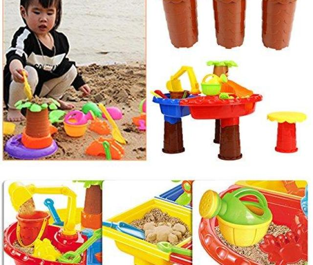 Suxian Kids Beach Toys22pcs Set Kids Beach Toy Sand Playing Toys Fun Summer