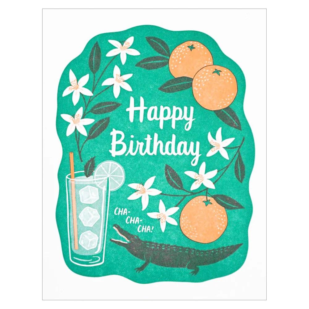 Happy Birthday Cha Cha Card By Lucky Horse Press Little Otsu