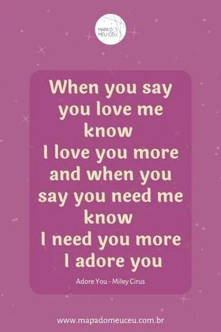 Adore You – Frases de músicas internacionais – Mapa do Meu Céu