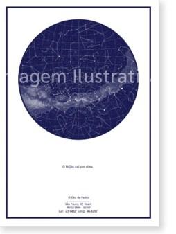 imagem do poster azul do mapa do meu céu