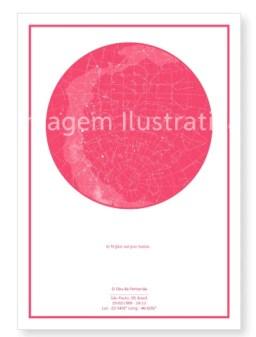 imagem do poster rosa do mapa do meu céu