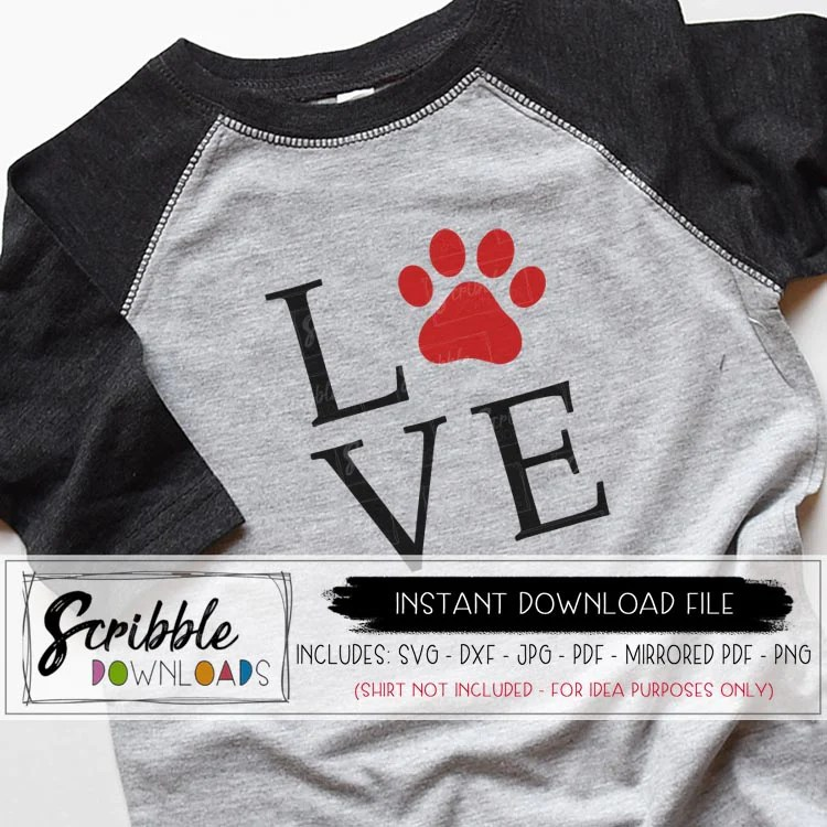 Download LOVE (animal paw) SVG - scribble downloads