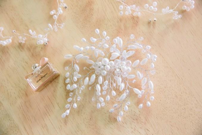 crystal and pearl comb bridal hair piece – my diy wedding shop