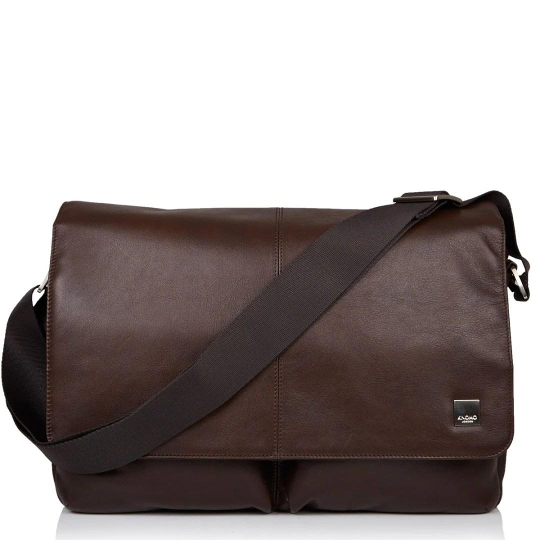a4c09532e2 KNOMO Brown Kobe Leather Laptop Messenger Bag – 15″ KNOMO® – Knomo –  209.25