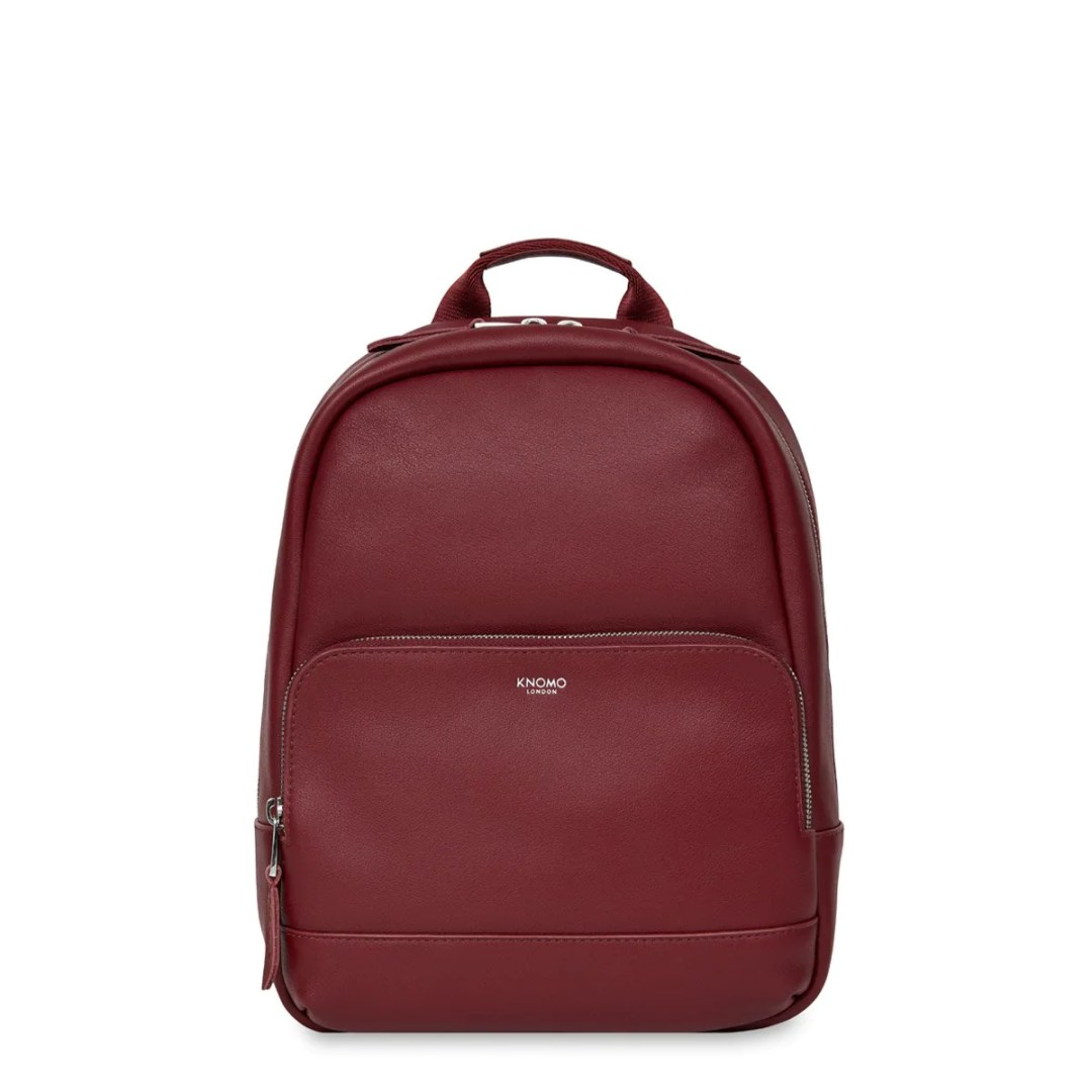 403229479b7c KNOMO Burgundy Mini Mount Leather Backpack 10″ KNOMO® – Knomo –  199.00