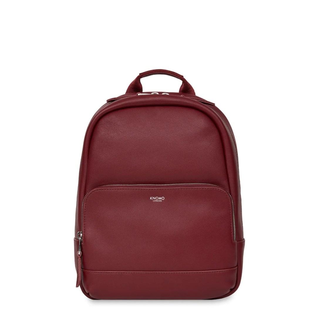 b5bbdf422c86 KNOMO Burgundy Mini Mount Leather Backpack 10″ KNOMO® – Knomo – $199.00