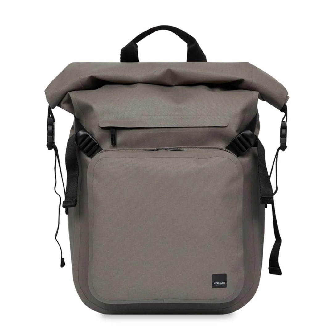 bc3811778a81 KNOMO Khaki Hamilton Water Resistant Roll Top Laptop Backpack 14″ KNOMO® –  Knomo – $119.00