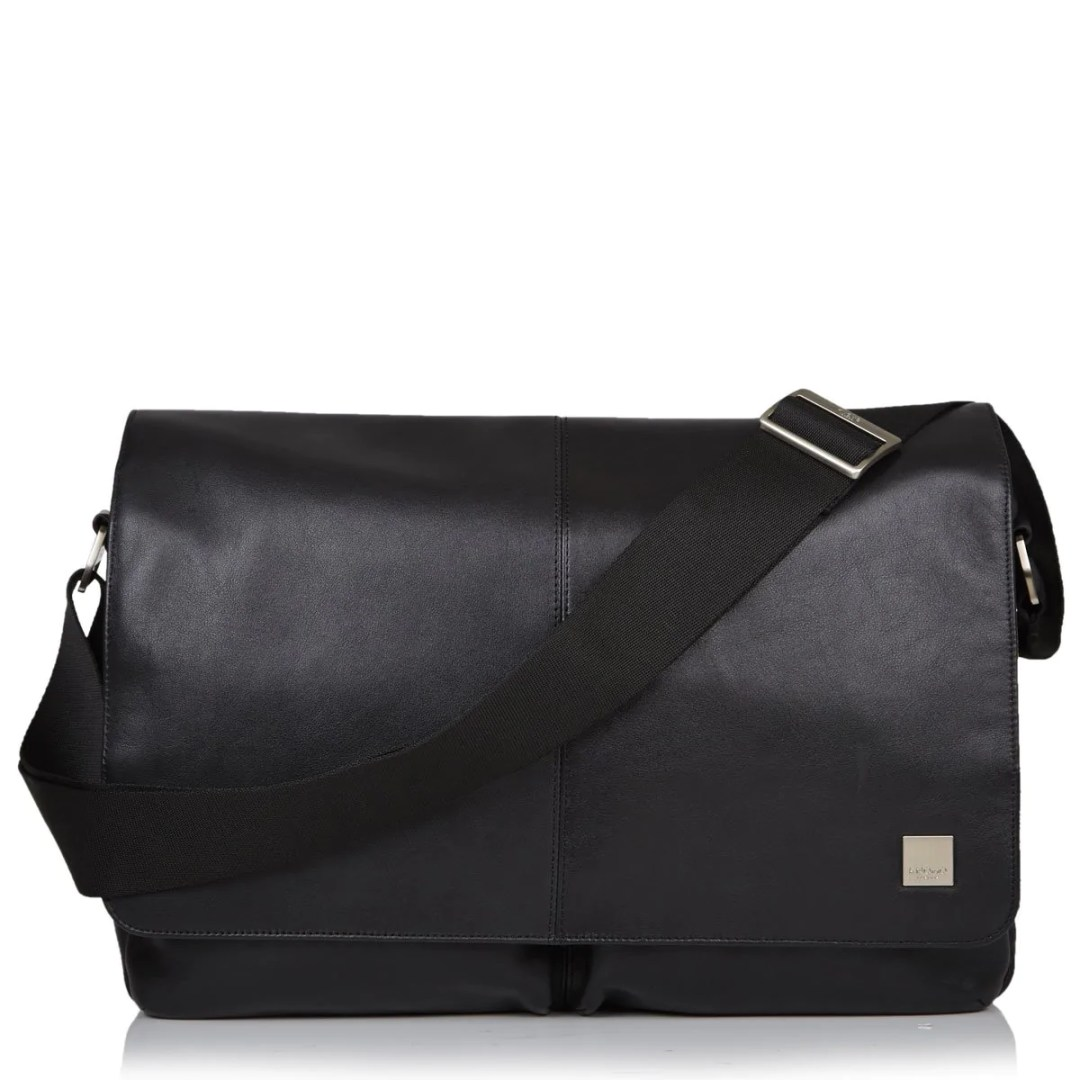 d6d955f82 KNOMO Black Kobe Leather Laptop Messenger Bag – 15″ KNOMO® – Knomo – $209.25
