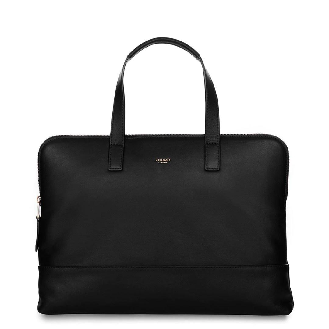 9d6dc1da38c5 ... $179.00 – KNOMO Black Reeves Leather Laptop Briefcase – 14″ KNOMO® –  Knomo – $171.75