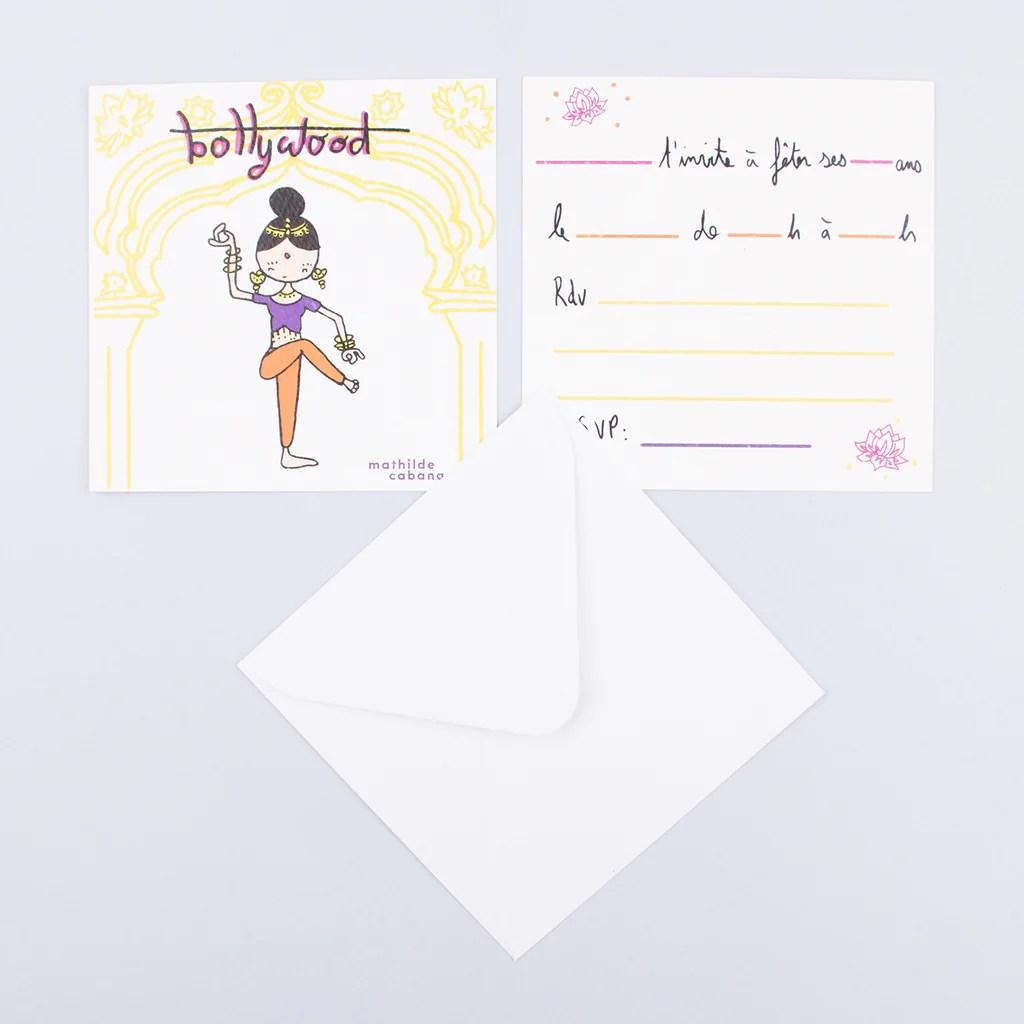 carte invitation anniversaire bollywood 6