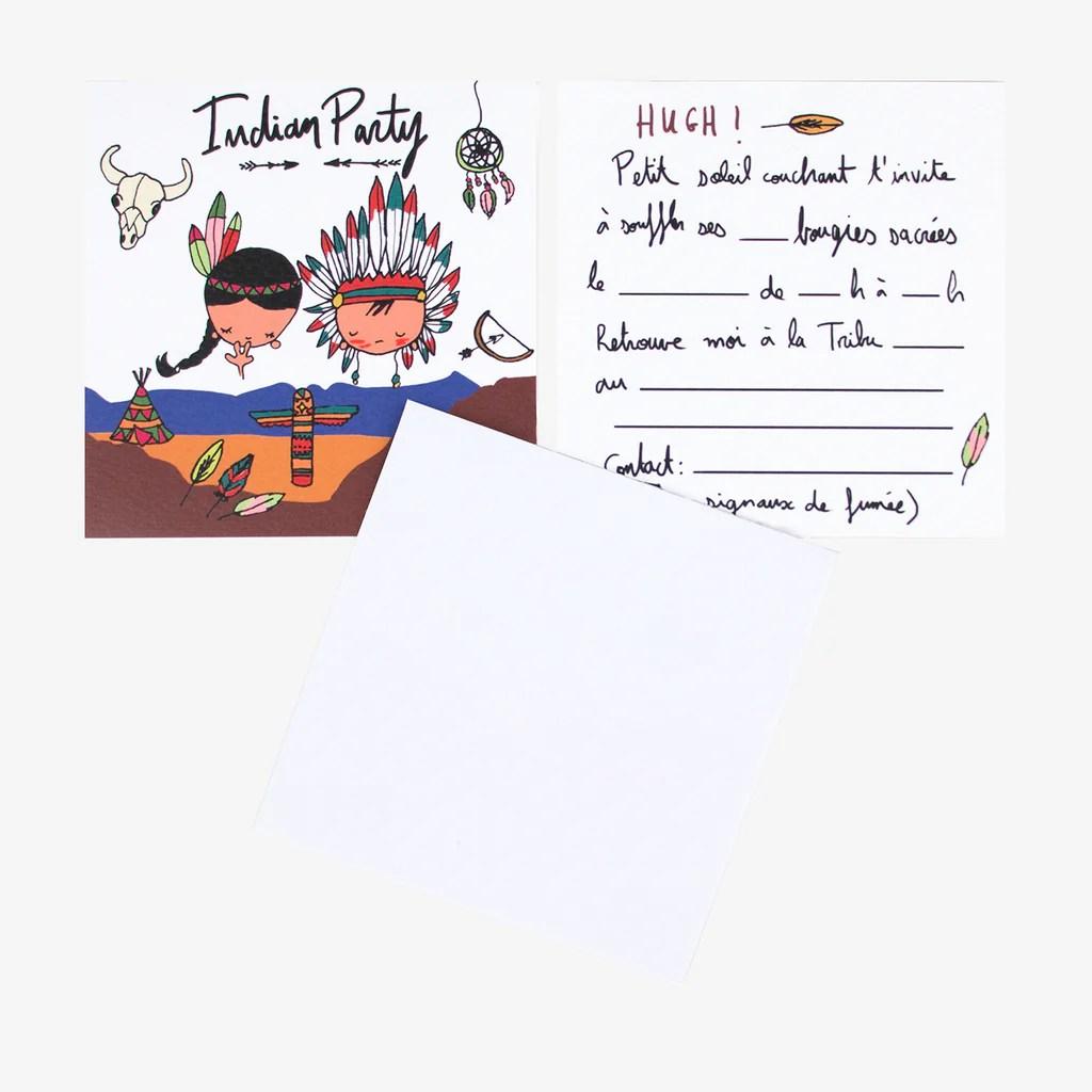 carton invitation anniversaire indiens 6