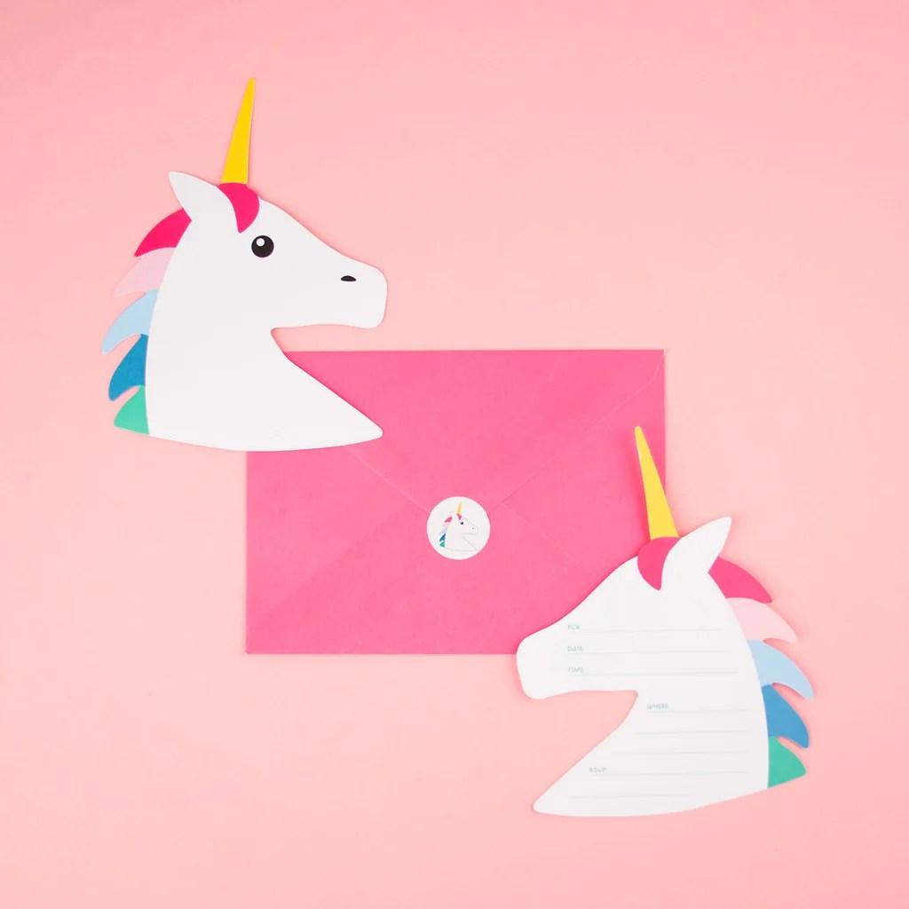 carton invitation anniversaire licorne 8