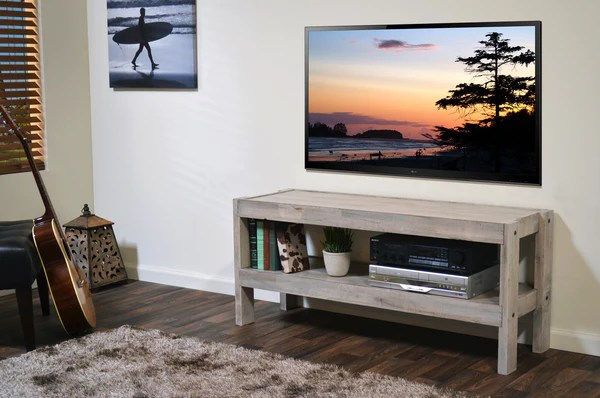 Reclaimed Media Stand PresEARTH Driftwood Woodwaves