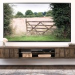 Farmhouse Rustic Wood Floating Tv Stand Entertainment Center Spice Woodwaves