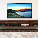 Wall Mounted Floating Tv Stand Entertainment Center Eco Geo Mocha Woodwaves