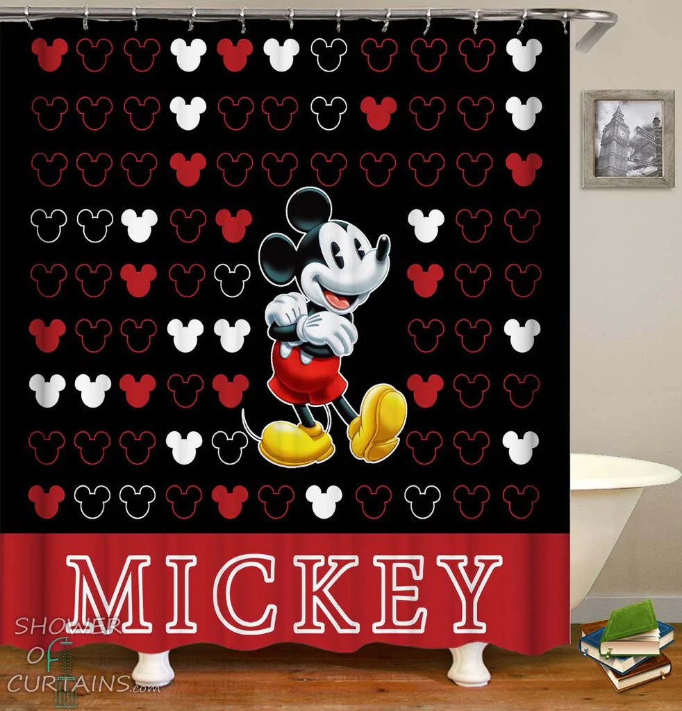 mickey mouse shower curtain shower of curtains