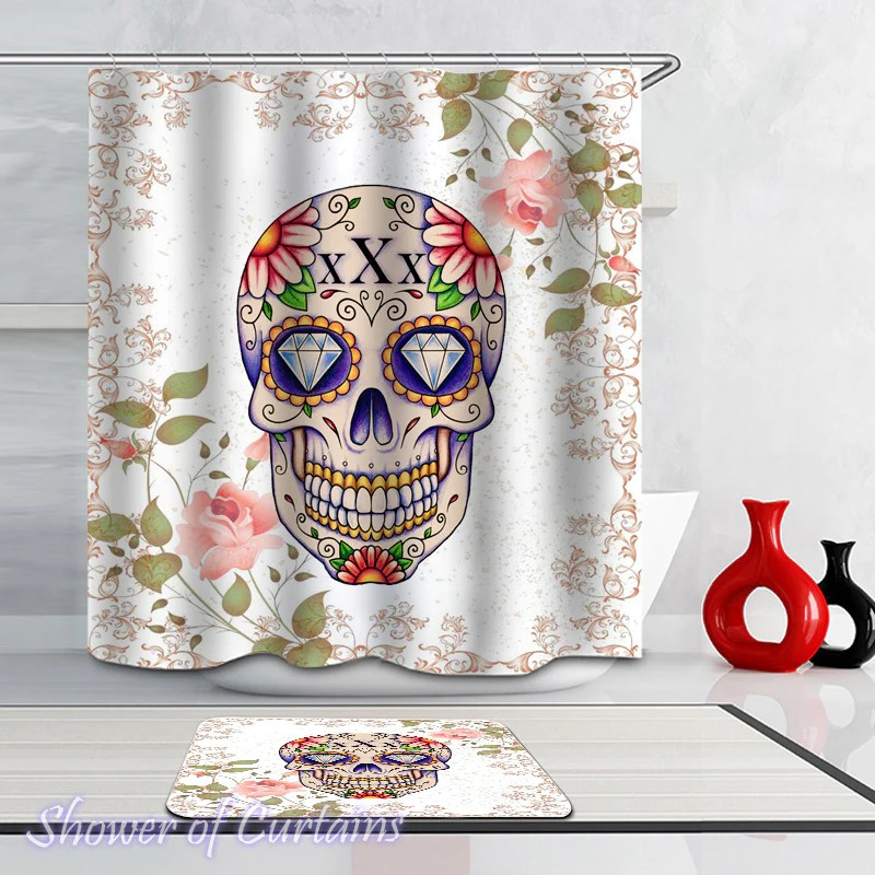 skull shower curtain collection