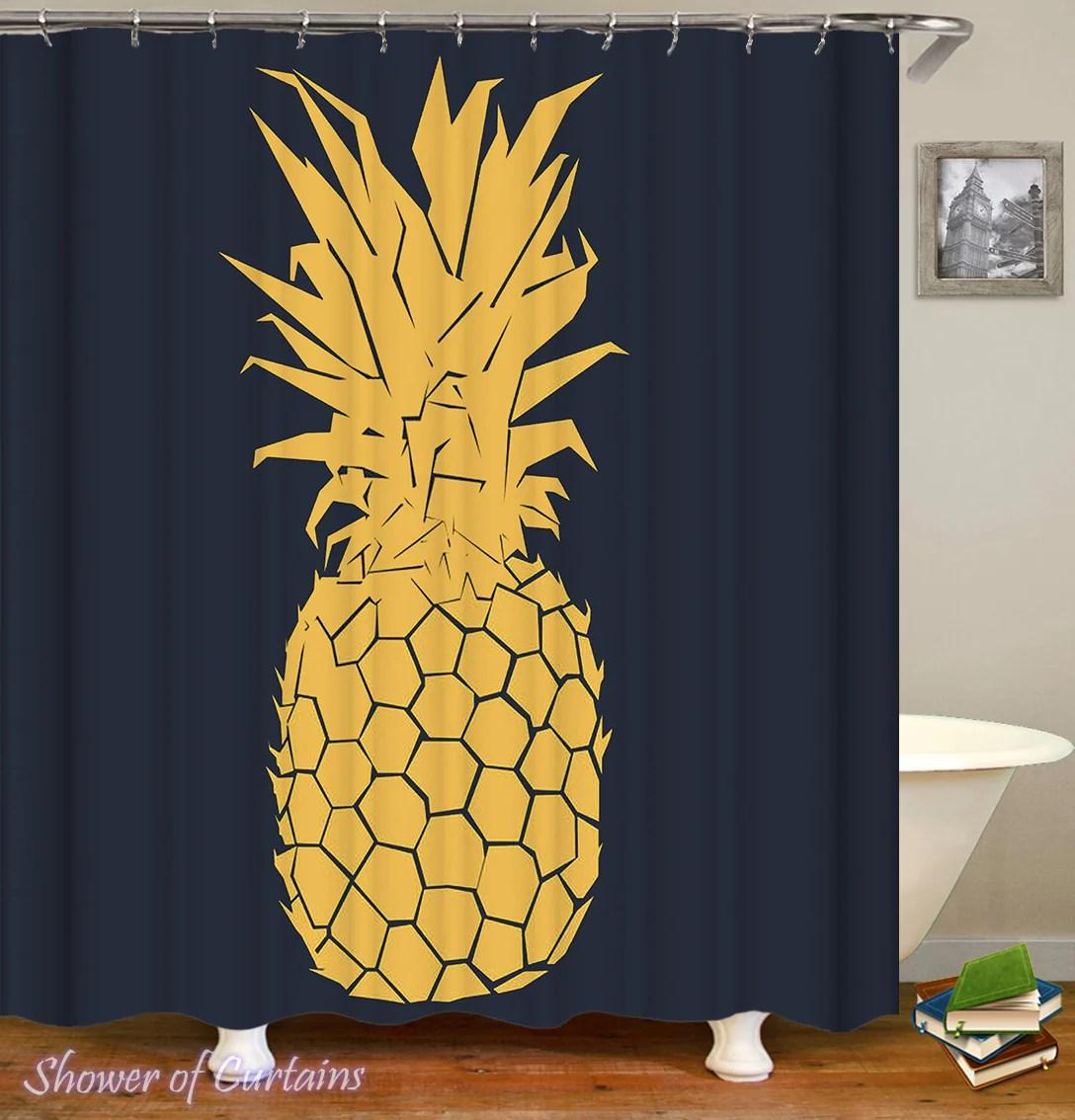 black background ft yellow pineapple