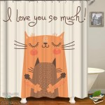Shower Curtains Cats Hug Shower Of Curtains