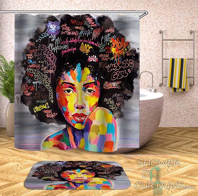 afro hair gorgeous black woman