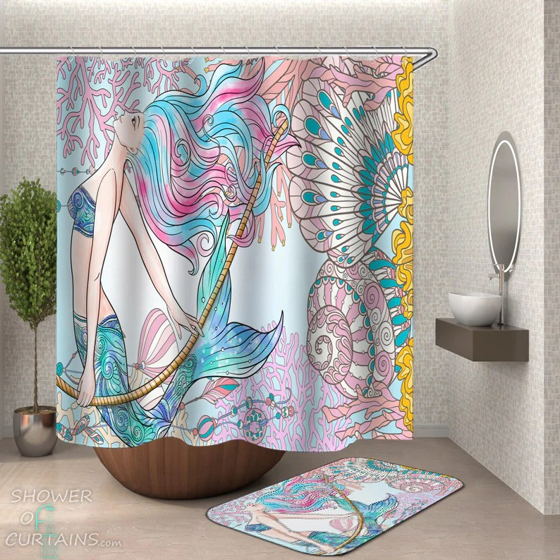 mermaid shower curtain collection shower of curtains