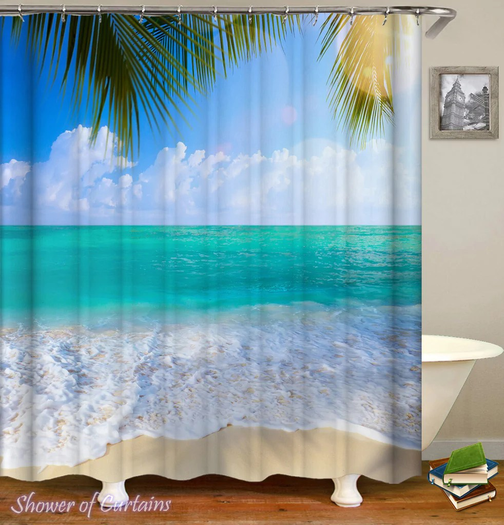 tropical shower curtains collection
