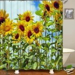 Shower Curtains Long Stems Sunflowers Shower Of Curtains