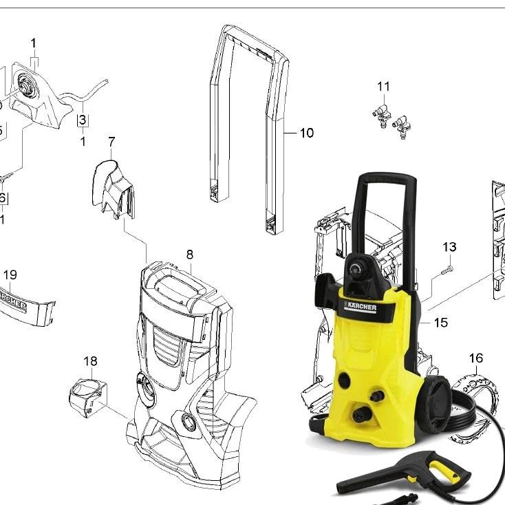 Karcher K4 600 Spare Parts Diagrams