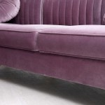 Modrest Rachel Modern Purple Velvet Sectional Sofa
