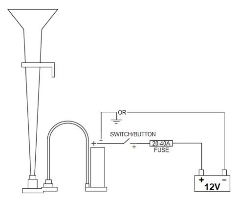 train horn wiring diagram  suzuki reno wiring diagram