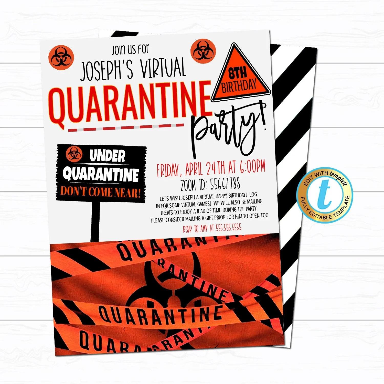 quarantine birthday party invite
