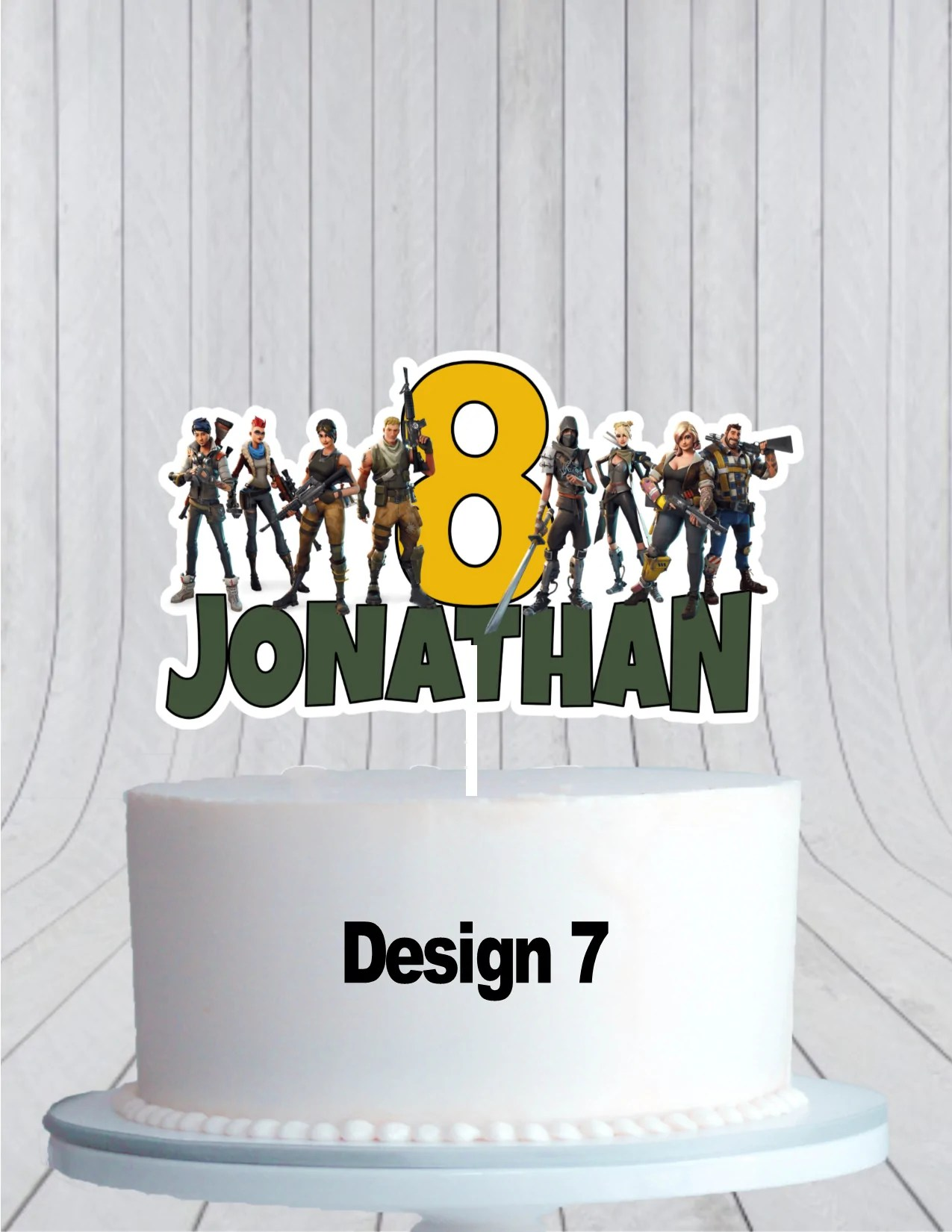 Fortnite Birthday Cake Topper Cmpartycreations