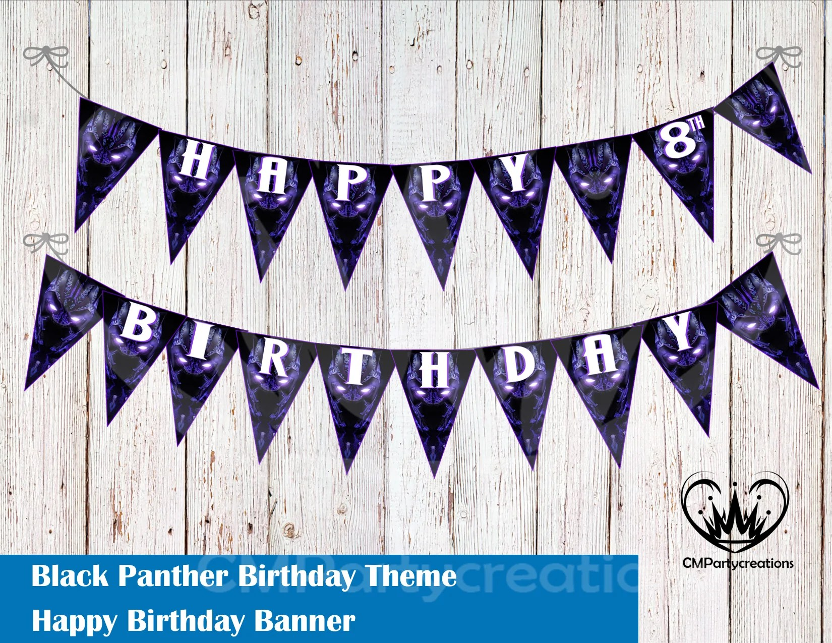 Black Panther Banner Birthday Party Cmpartycreations
