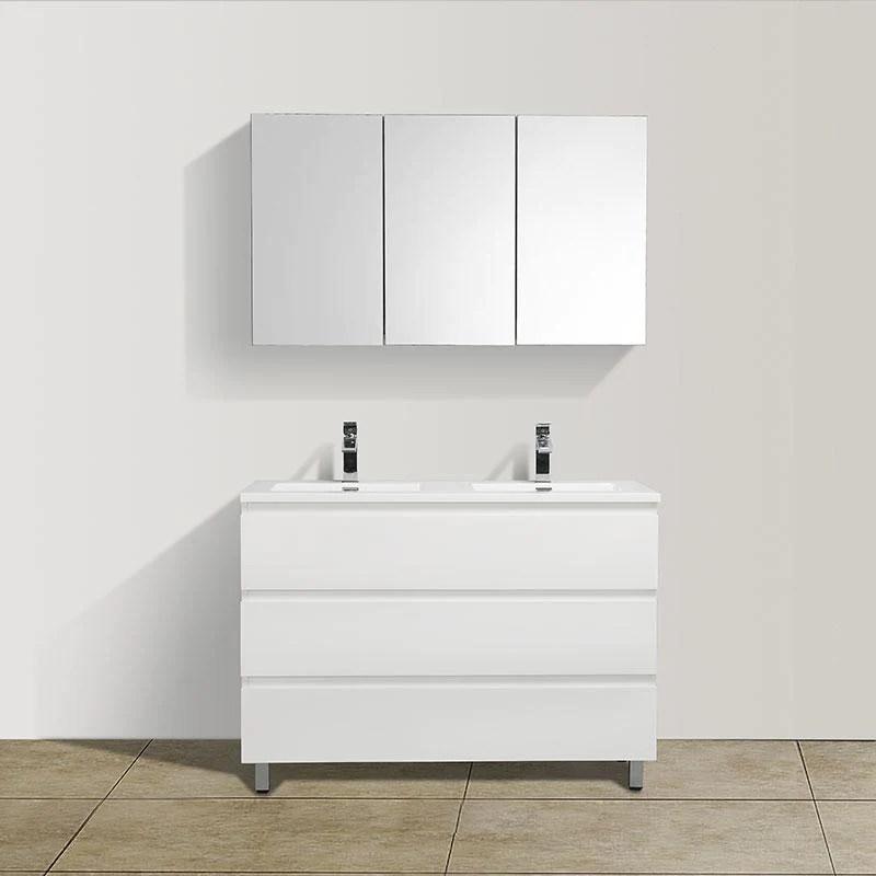 Meuble Salle De Bain Design Double Vasque Verona Largeur 120 Cm Blanc Swissbain
