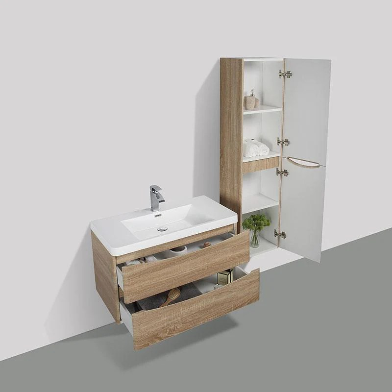 Meuble Salle De Bain Design Simple Vasque Piacenza Largeur 90 Cm Chen Swissbain