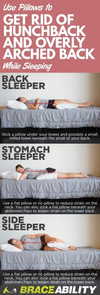 to straighten your back while sleeping