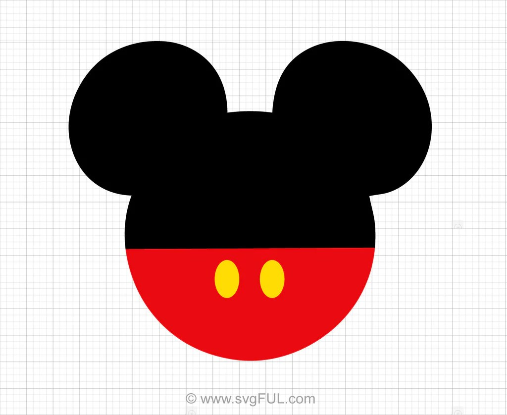 Download Mickey Mouse Head Svg Clipart - svgFUL