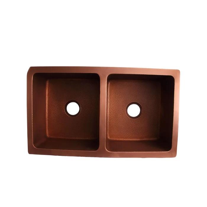 seward double bowl copper undermount kitchen sink