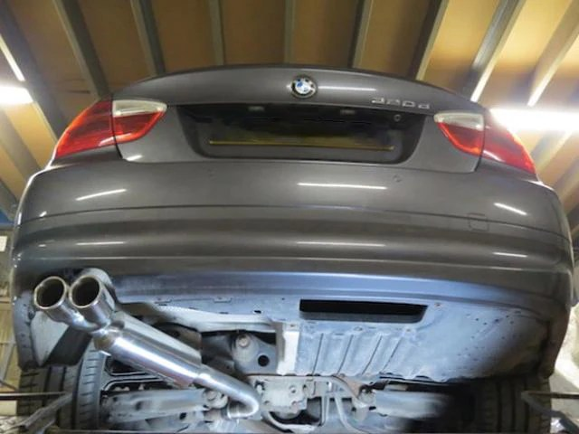 bmw e90 e91 318d 320d performance exhaust twin tailpipe
