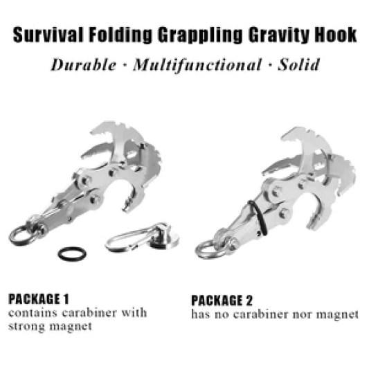 Stainless Steel Survival Folding Gravity Hook 15*9 CM
