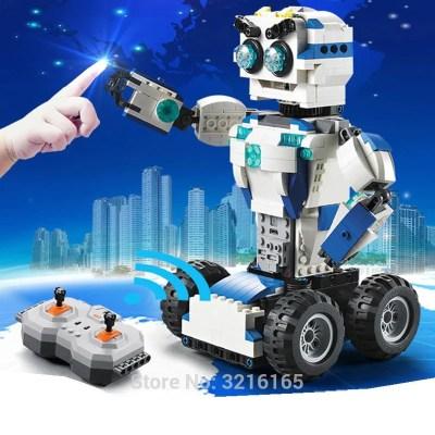 606pcs DIY 2-in-1 RC Building Blocks Transform Robot toys Lithium battery Motor Boost Creative Bricks Compatible Legos Gift kids - OurKids.Shop
