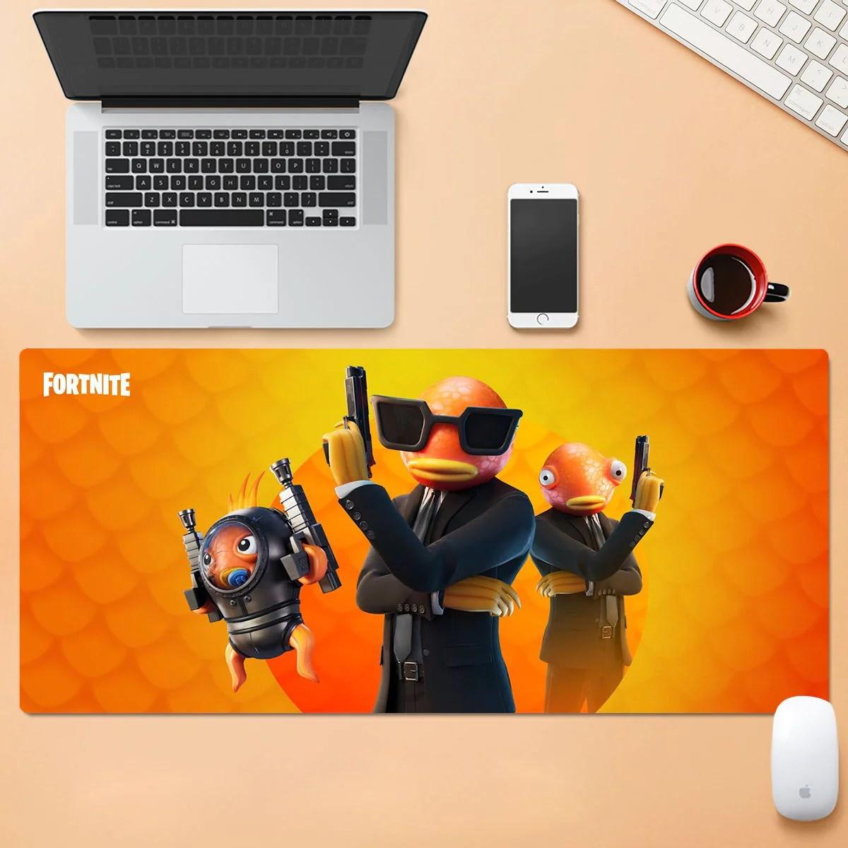 fortnite contract giller mousepad gaming tapis de souris cadeau pour g profitez de la vie