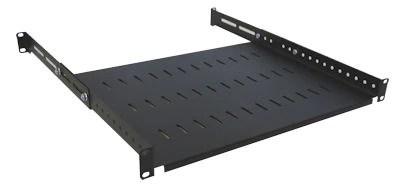 1u 19 inch adjustable rack mount shelf 550mm to 800mm commsonline