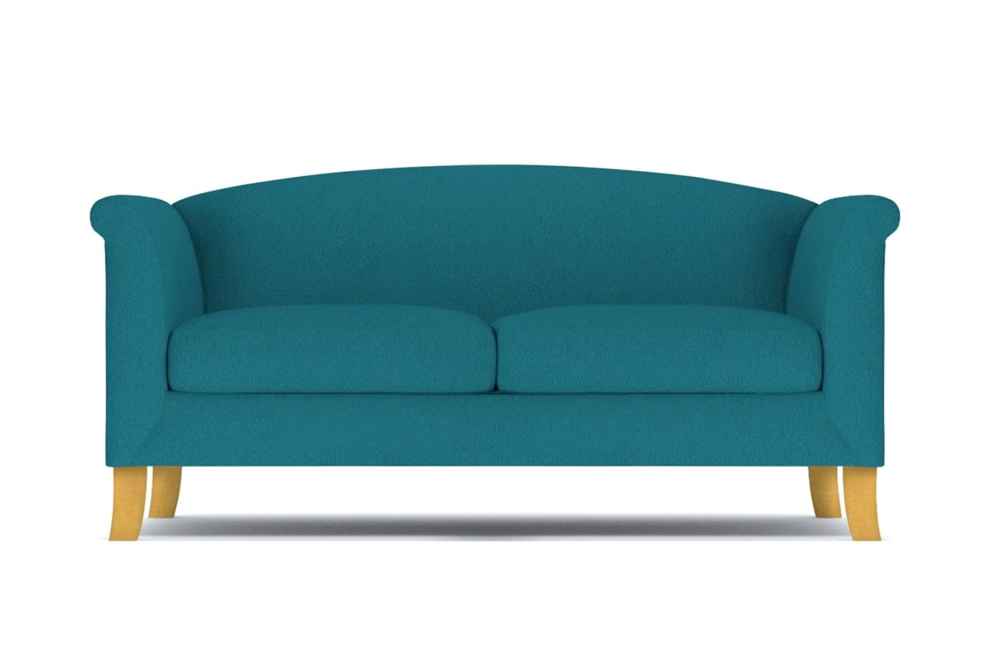 Albright Apartment Size Sofa - Blue -  Small Space Modern Couch Made in the USA - Sold by Apt2B