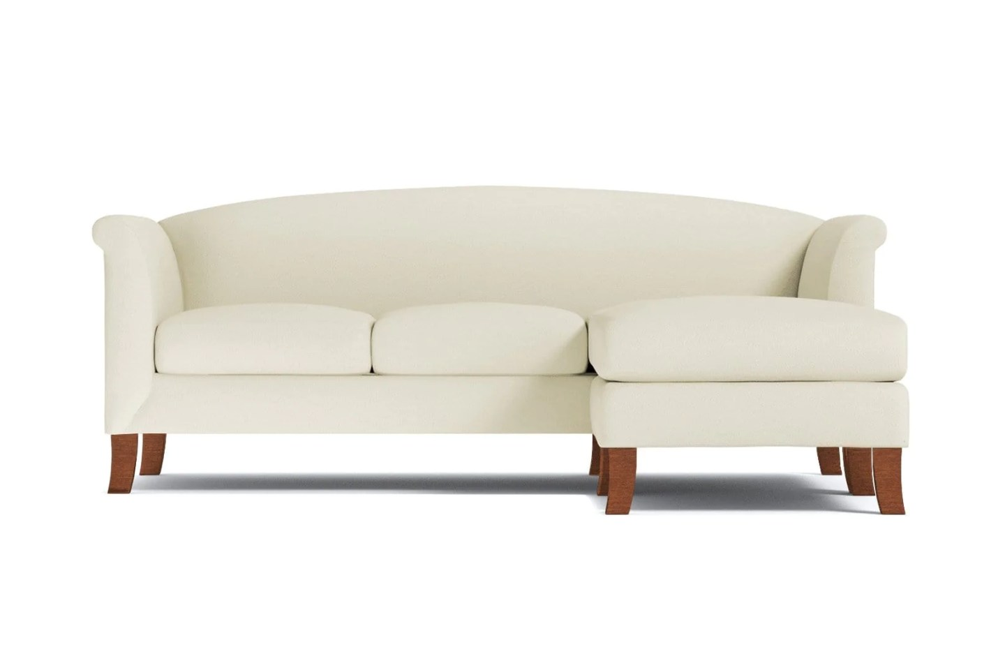 Albright Reversible Chaise Sofa - Beige -  Flip Sectional Made in the USA - Sold by Apt2B